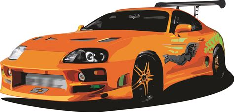 toyota supra drawing toyota supra fast and furious draw vetores no corel draw