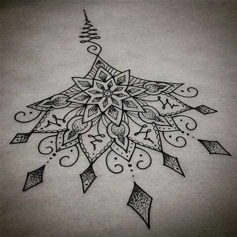sternum mandala tattoo 25 best ideas about mandala sternum on