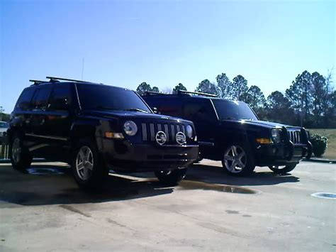 jeep patriot 2007 tire size 2 quot lift and new tires comparision size next to commander