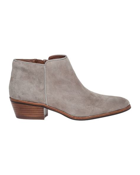 sam edelman gray petty suede ankle boots lyst