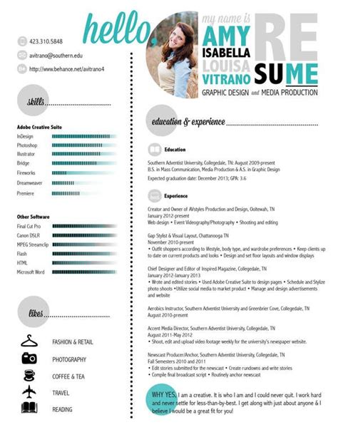 resume layout design behance design resume by amy vitrano via behance curr 237 culos