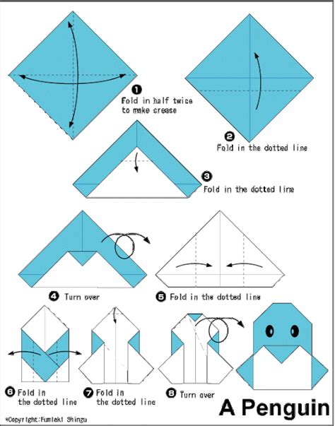 Easy Origami Magic - penguin easy origami for