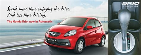 honda brio automatic price in delhi honda brio automatic variant launched at rs 5 74 lakh