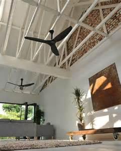 Ceiling Fans For Living Room Haiku Black Ceiling Fan In The Living Room Contemporary Living Room Louisville By Big