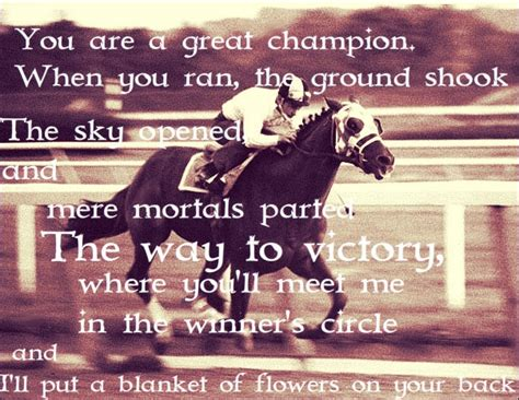 You are a great champion when you ran the ground shook