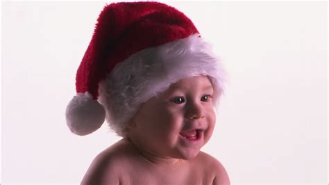 baby santa claus hat hd stock video footage collection
