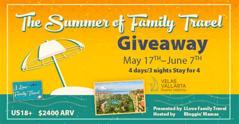 Family Vacation Giveaways - summer family travel giveaway life with kathy