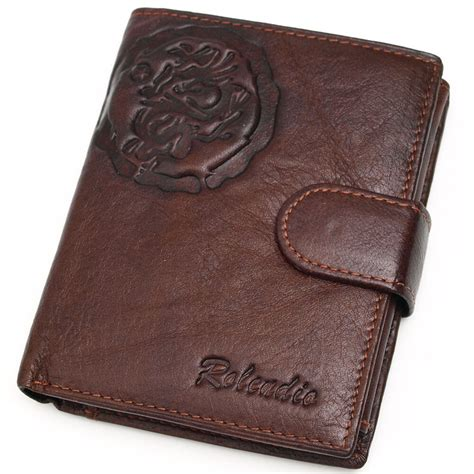 Cowhide Wallet - new s brown cowhide leather clutch trifold wallet