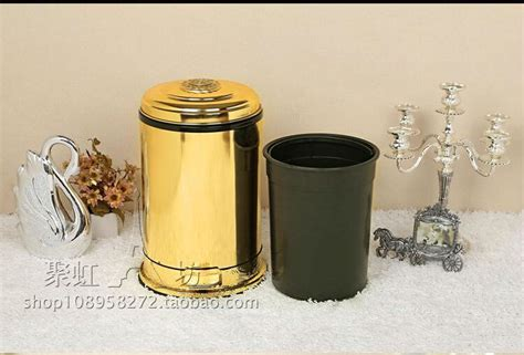 Luxury Garbage And Why Not by Luxury European Gold Floral Foot Pedal Toilet Waste Bins
