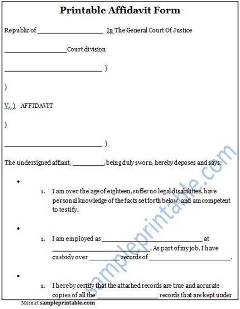 Proof Of Guardianship Letter Uk Sworn Affidavit Form Sle