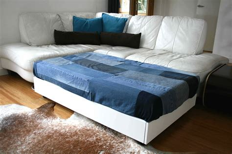diy couch bed diy sofa family bed upcycled denim cover diy upcycled