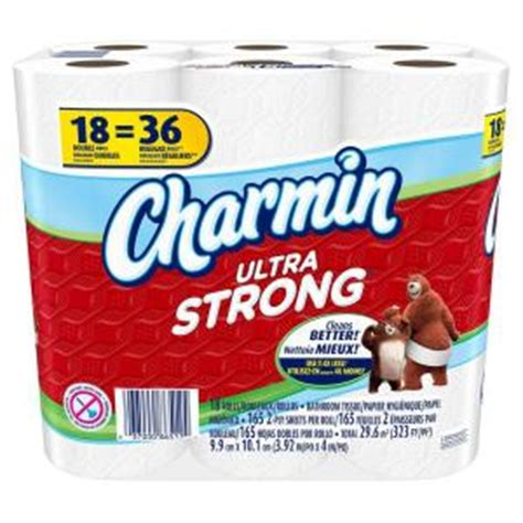 What Makes Toilet Paper Strong - charmin ultra strong toilet paper 18 rolls 003700087841