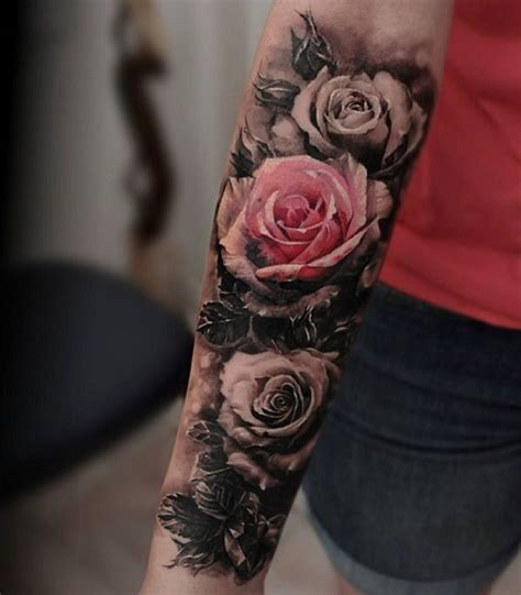 coloured rose tattoos 120 meaningful designs ideas