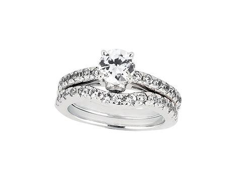 1 75ct cut engagement ring wedding band set