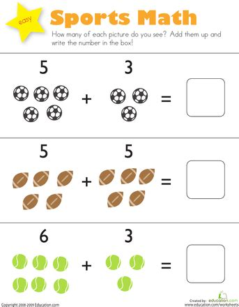 printable addition math games for kindergarten sports math worksheets math and free
