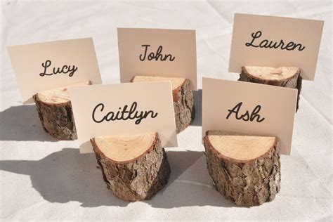 place card holders ideas for your wedding arabia weddings 20 wood place card holders rustic place card holders with