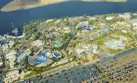 americas home place the bay pointe b dream house aerial view of seaworld san diego stock photo image