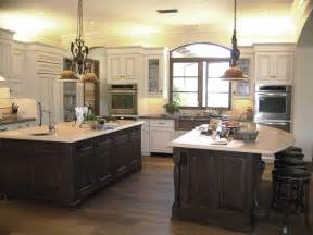 Double Kitchen Island Designs by 24 Kitchen Island Designs Decorating Ideas Design