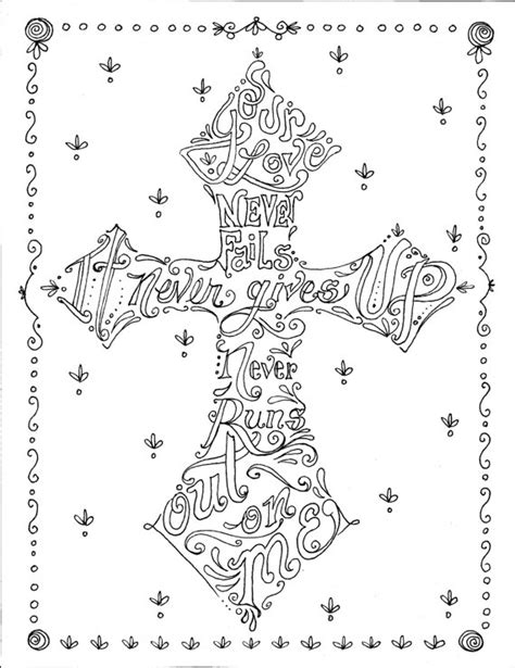 christian coloring pages for adults coloring book crosses christian art to color and by