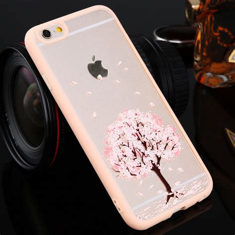 Fashion Iphone 7 Plus Layar 5 5 Slim fr iphone 7 plus 5 5 6s pink slim girly transparent cherry back cover ebay