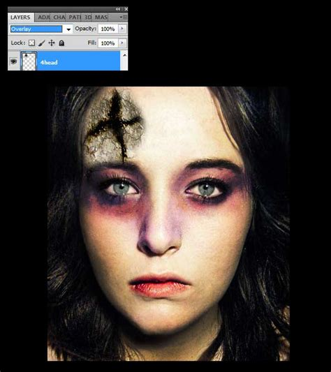 adobe photoshop horror tutorial creating a scary zombie photo effect in photoshop