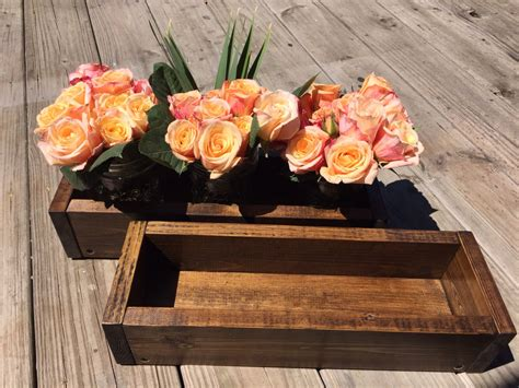 wood boxes for centerpieces wood box centerpiece wood box flower and candle holder