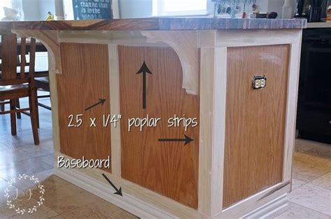Kitchen Island Molding by How To Update A Builder Grade Kitchen Island With Trim And