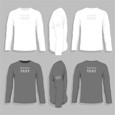 Men Clothes Design Template Vector Set 09 Vector Life Free Download Clothing Design Templates For Photoshop