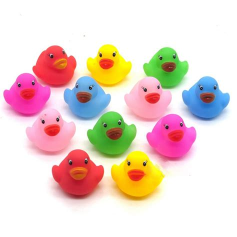 Unisex Import Duckie 12 pcs colorful baby children bath toys rubber squeaky duck ducky hc ebay