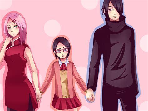 sarada sasuke uchiha and sakura family uchiha haruno family 2 by yuri chan24 on deviantart