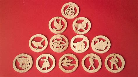 days  christmas ornaments scroll  woodworking
