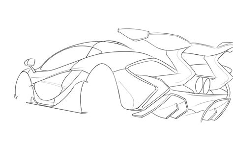 mclaren logo drawing car line drawing sketch coloring page