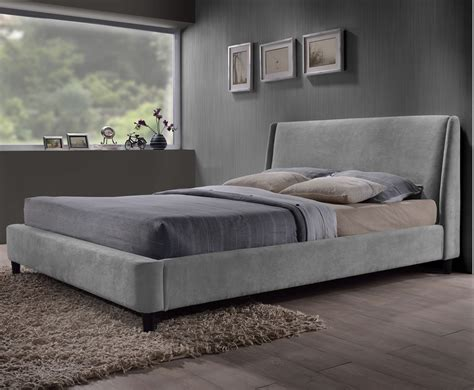 grey bed addison small double 4ft grey upholstered bed