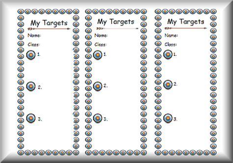 target card template ks2 targetslit