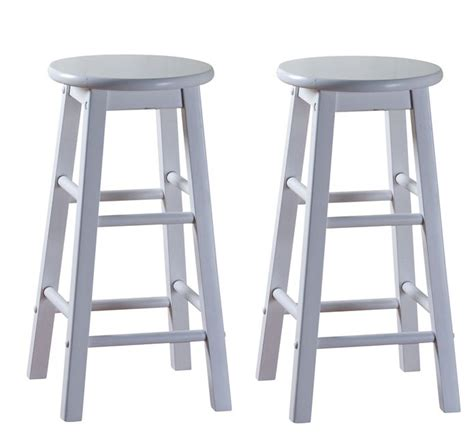 white bar stools wood set of 2 new classic white wood bar stools 30 quot ebay