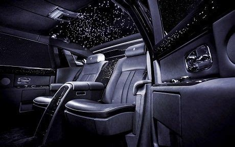 bentley inside roof the rolls royce celestial features a studded