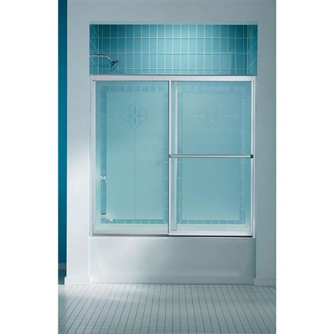 sliding shower doors for bathtubs sterling prevail 59 3 8 in x 56 3 8 in framed sliding