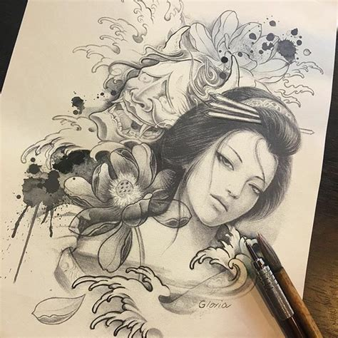 geisha warrior tattoo drawings 17 best images about geisha on pinterest marilyn monroe