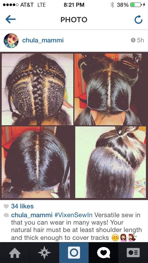 where to do vixen sew in hairdressers 1000 images about best crochet braid cornrow patterns on