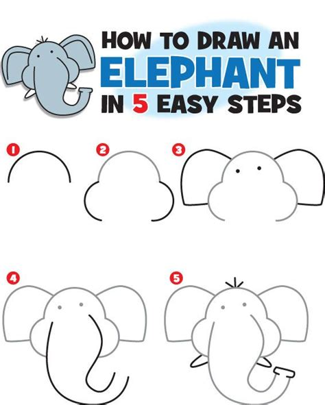 learn to paint in 5 steps and unleash your creative spirit creative spirits books 25 best ideas about easy elephant drawing on