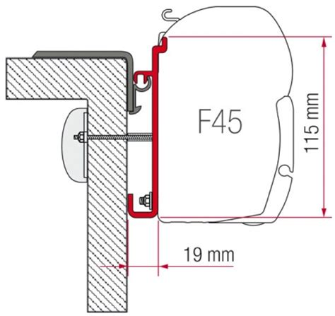 Fiamma Awning F45 Accessories by Fiamma F45 Awning Adapter Kit Rapido Serie 9 Awning