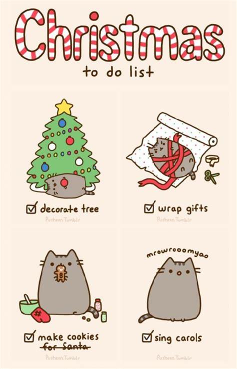 pusheen cat christmas to do list pusheen the cat pusheenthe cat twitter