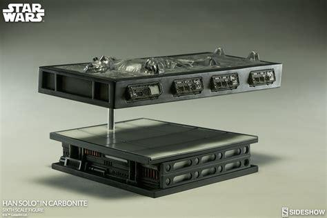 Han Table wars han in carbonite sixth scale figure by