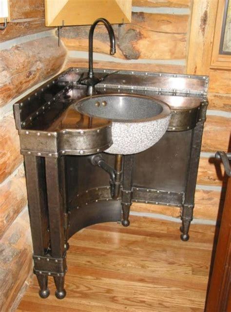 Nice Salle De Bain Moderne Avec Baignoire Dangle  #7: Meuble-de-salle-de-bain-dangle-une-vasque-style-n%C3%A9o-industriel-original.jpg