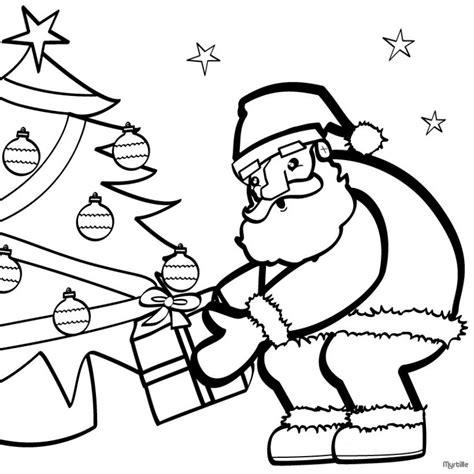 imagenes de santa claus animadas para dibujar dibujos para colorear 193 rbol y pap 225 noel es hellokids com