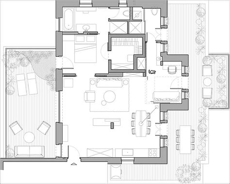 modern floor plans for homes carefully curated collection enlivens stylish penthouse in jerusalem