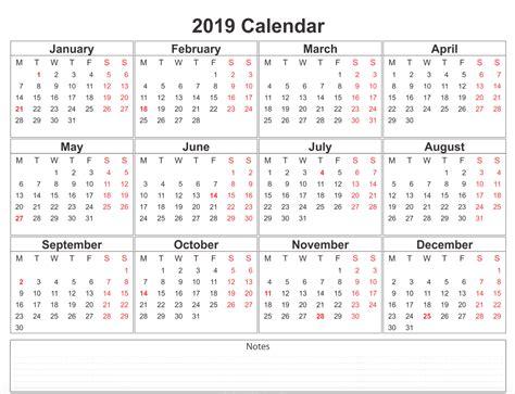 blank printable calendar holidays template