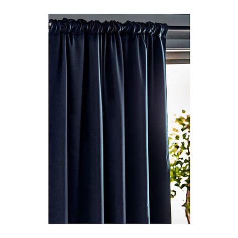 werna curtains ikea werna curtains drapes 2 panels dark blue block out 98 quot