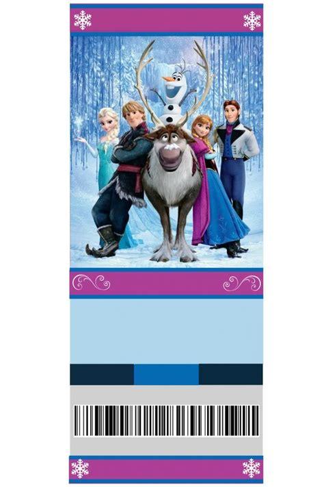 printable frozen movie ticket invitations elissa kirkland on pinterest
