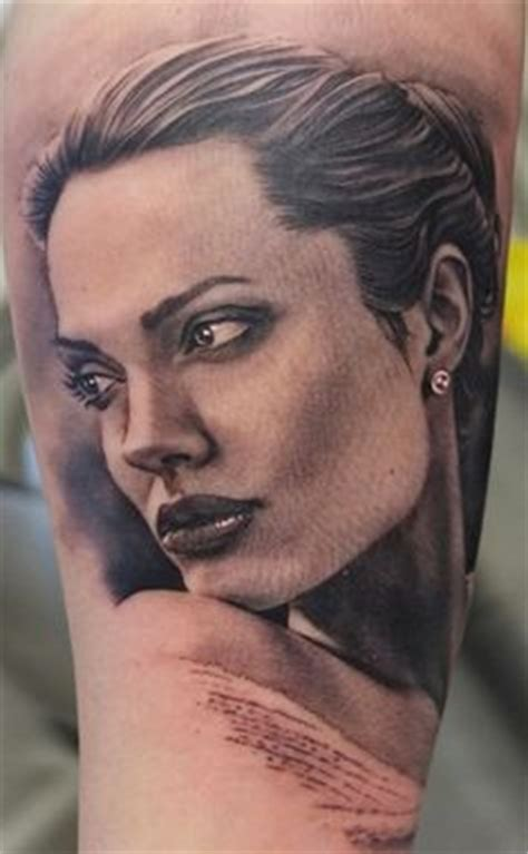 angelina jolie portrait tattoo some of the best portrait tattoos uncle dad guff